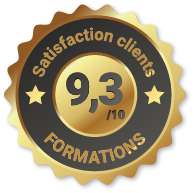 Badge Satisfaction clients Formation à Tours (37)
